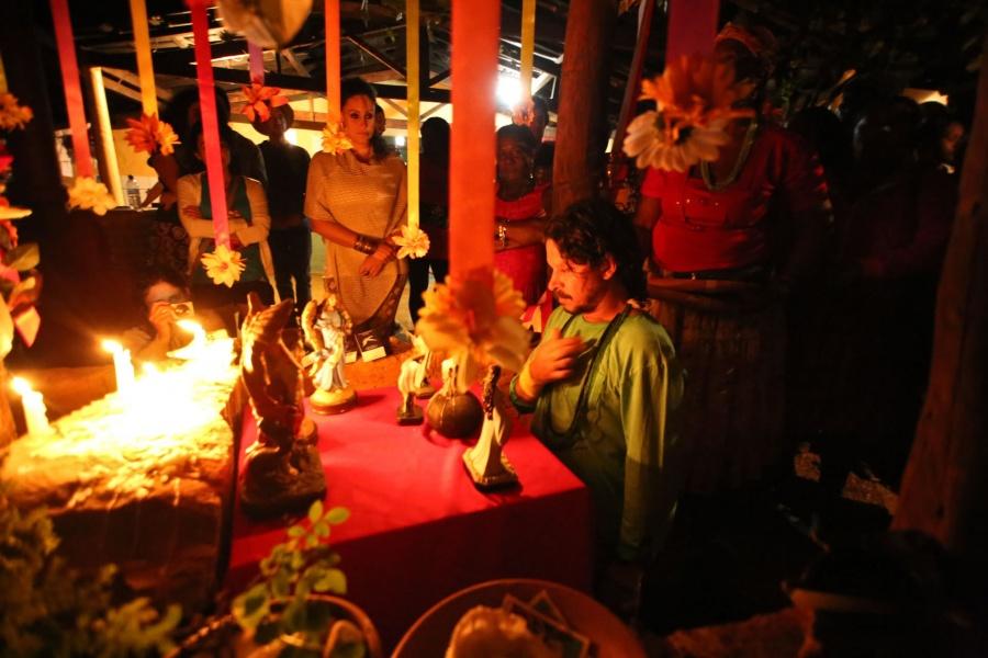 Hasteamento do Mastro do Divino Espirito Santo da Comunidade Quilombola do Sitio Histórico Kalunga | Foto de Delcio Gonçalves